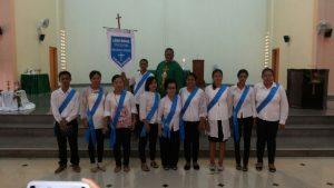 Oma Fernandes, Asisten Pemimpin Rohani Kuria Tanjung Pinang bersama Perwira yang baru dilantik