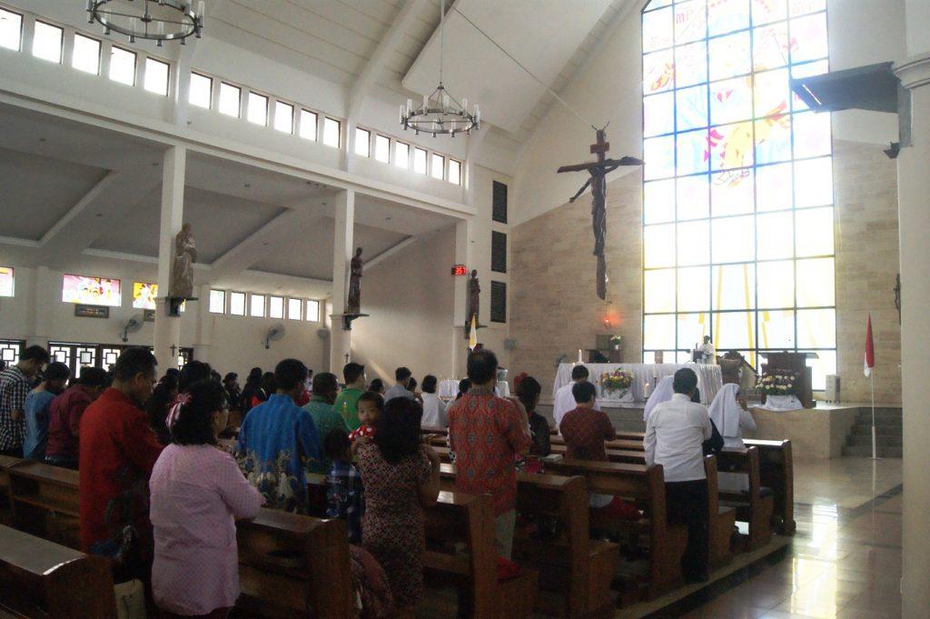 Suasana Misa Syukur Kemerdekaan RI (17/8)