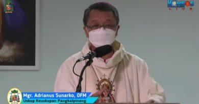 Pada Hari Lahir Pancasila, Mgr Adrianus Ajak Umat Katolik Agar Aktif Membangun Relasi Antar Umat Beragama.